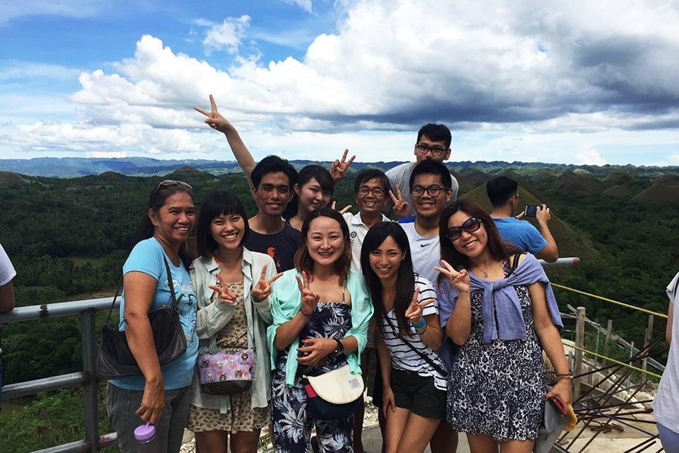 セブのC2の生徒達と先生達と一緒にボホール島へ旅行