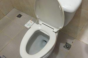 UVのトイレはフォシュレット付き