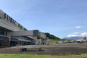 スービック空港、1日1便、マニラから飛行機も出ています。街から空港も30分かからない。