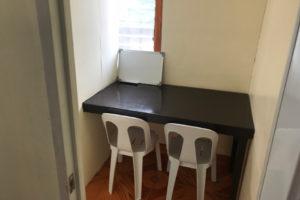 ドゥマゲテの小規模語学学校Aspireのマンツーマン教室